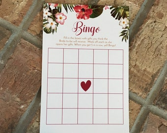 Bingo Bridal Shower Game, Wedding Shower Games to Play, Bingo Card Game, Digital Download File