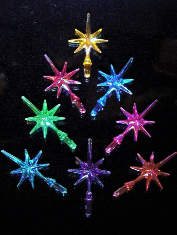 Small Star Ceramic Christmas Tree Iridescent Aurora Snowflake