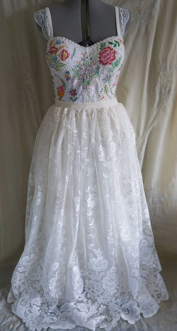 Meadow Bridal Bustier Top... wedding gown dress separates boho