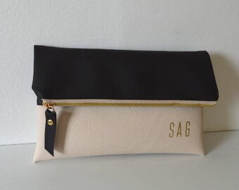 Colorblock Clutch, Monogram Clutch Purse, Evening Clutch Bag, Bridal Gift