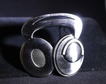 Listen Up!!  Headphones Belt Buckle