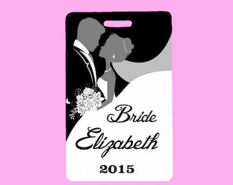 Personalized Bridal Luggage Tag Custom Wedding Luggage Tag ID Tag Custom Bag ID Tag Destination Wedding Free Shipping