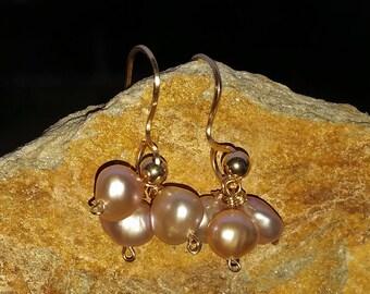 Pearl Cluster Earrings, Akoya Pearls, Bridesmaid White Cluster Pearl Earrings,June Birthstone Earrings, Statement Wedding Bridal Jewelry