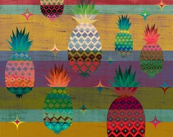 Crazy Pineapple Art Print