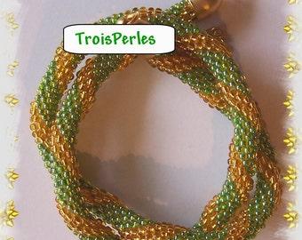 75 - Beaded Crochet Necklace - Kette - Perlenkette - Häkelkette