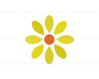 Daisy Embroidery Design Instant Download