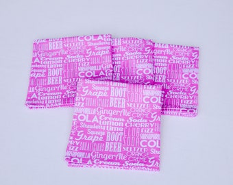 Cloth Napkin Set of 4 (Soda Pink)