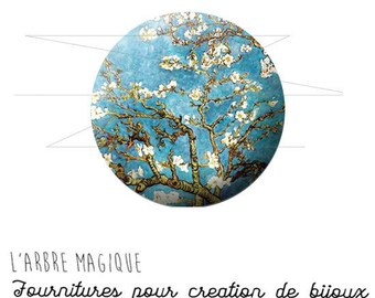 2 cabochons craft painting art tree ref 926 20/18/16/14/12 mm glass choice