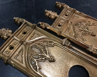 Oversized Ornate Door Plate Set, Gothic Arches