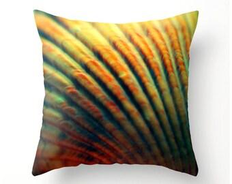 Scallop Shell Decorative Throw Pillow, coastal beach decor, scatter cushion, dorm decor, home decor, seashell, beach cottage decor