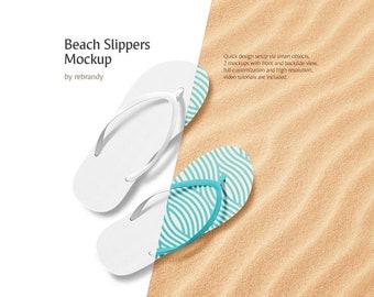 847d4e95f Beach Slippers Mockup (Flip Flops Mock up