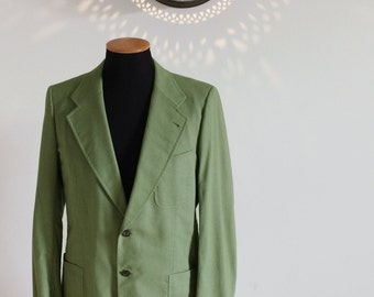 70s Lord Mayor men's tailored jacket in mint green
