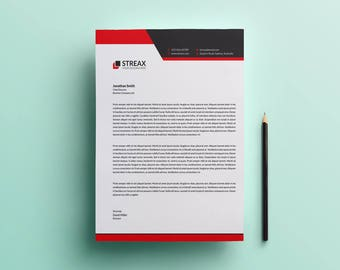 Letterhead template printable letterhead design microsoft letterhead template business letterhead printable letterhead instant download letterhead thecheapjerseys Image collections