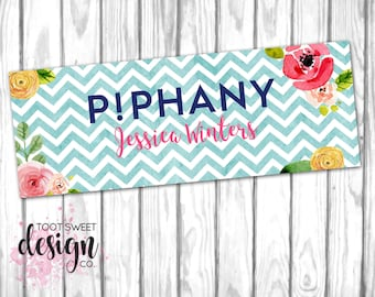 Piphany Facebook Cover Photo, Piphany FB Cover Image, Stylist Online Social Media Shop Sales Sign Banner, Chevron Floral DIGITAL for WEB