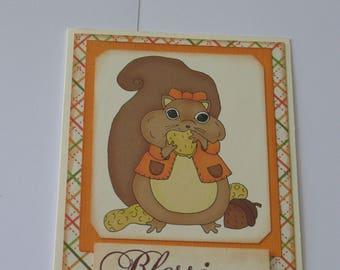 Sale - Squirrel Happy Thanksgiving Card