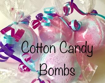 6 Cotton Candy Bubble Bath Bombs-Set of 6