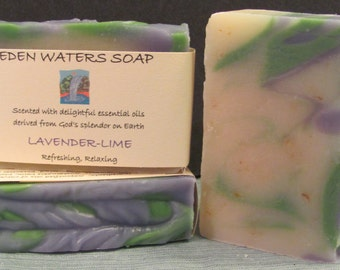 Soap-Lavender-Lime Natural Handmade Cold Process Soap