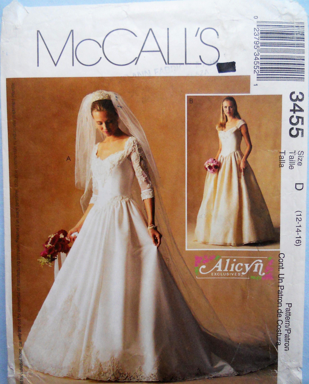 McCall 3455. Brautkleid-Muster. Braut von Alicyn. Formelle