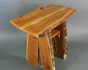 Live edge cherry end table