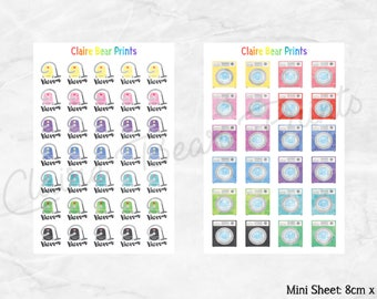 VACUUM & WASHING Planner Stickers (2 options)