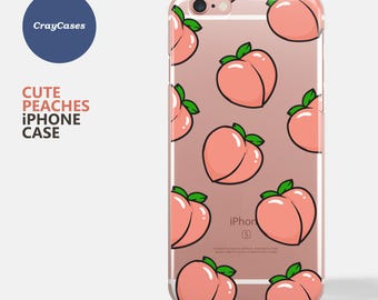 cute peaches iphone case, peaches iphone 7 case, iphone 6 case, iphone 6s case, Also Available for iPhone 6/7 Plus (Shipped From UK)