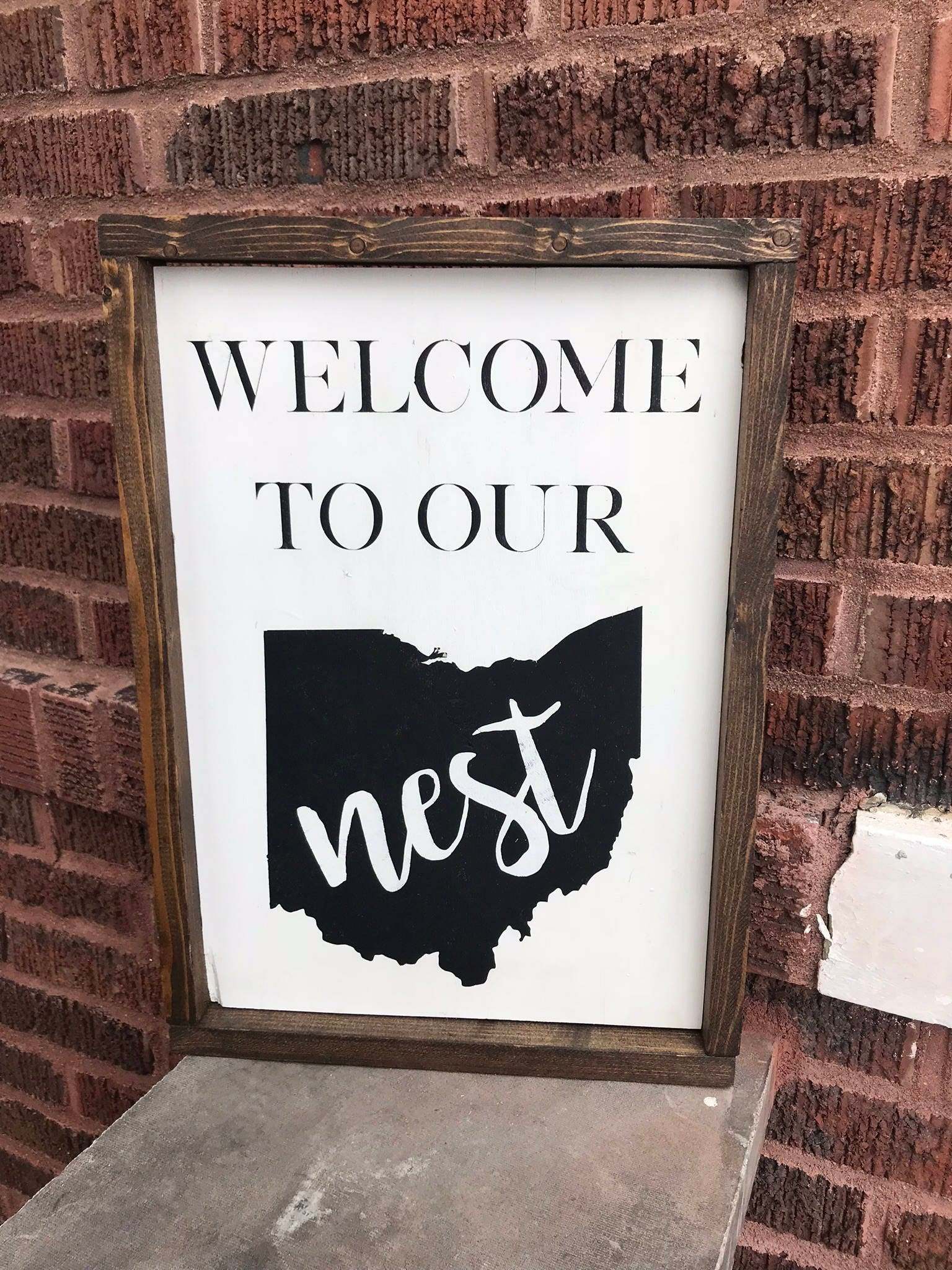 zoom Welcome To Our Nest Ohio Wood
