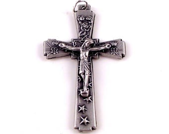 Crowns, Roses and Stars Rosary Crucifix Italy | Italian Rosary Parts
