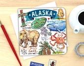 Alaska notecard. Single or Set of 4.
