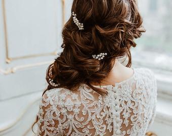 KRISTINE |  Wedding Hair Pins , Bridal Hair Accessories, Bridal Hair Pins, Silver Hairpins, Bridal Headpieces, Wedding hair accessories