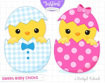 easter chicks etsy rh etsy com Cute Chick Clip Art easter chick clipart free