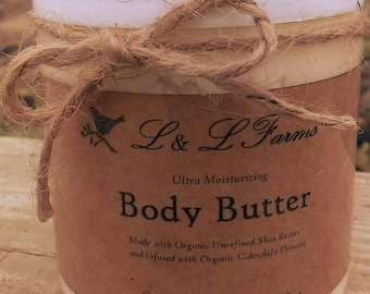 Ultra Moisturizing Calendula infused Body Butter made with Organic Ingredients