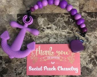 Purple Anchor Teether