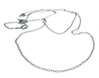 Forzatina chain diameter mm. 0.5 in sterling silver rhodium-plated nickel free-chain