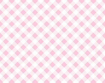 7.99 A Yard - Last Day Of Sale- Lori Holt For Riley Blake Sew 2 Cherry Gingham Pink - C5808