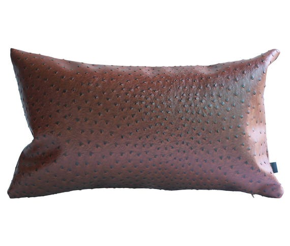 Kdays Ostrich Faux Leather Pillow Cover X Inches