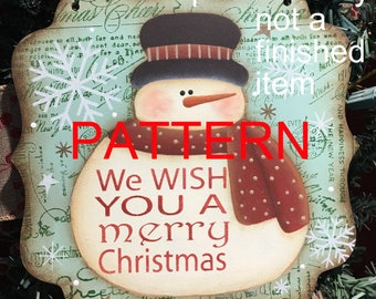 painting patterns, merry Christmas snowman, christmas patterns, snowman patterns, decorative painting, tole painting patterns, folk art