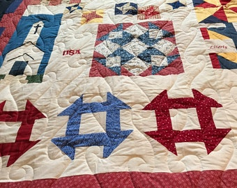 Patriotic quilt -Applique, embroidery