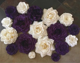 Paper Flowers Wall Decor - Wedding Decor - Home Decor - Nursery Decor - Paper Flower Backdrop - Paper Flowers - Photo Shoot - Backdrop