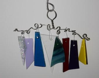 Multicolor Glass Wind Chime