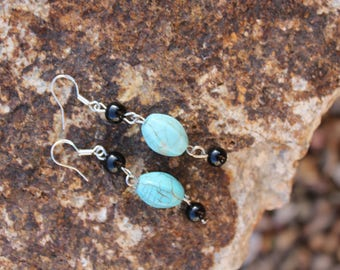 Trend Setting Turquoise Dangle Earrings