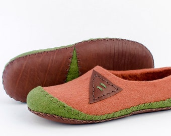 "Felt slippers ""Alameda"" for mens 