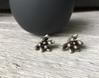 Cactus earrings-Sterling silver succulent earrings -Nature stud earrings-Everyday jewelry-Plant stud earrings-Botanical jewelry-