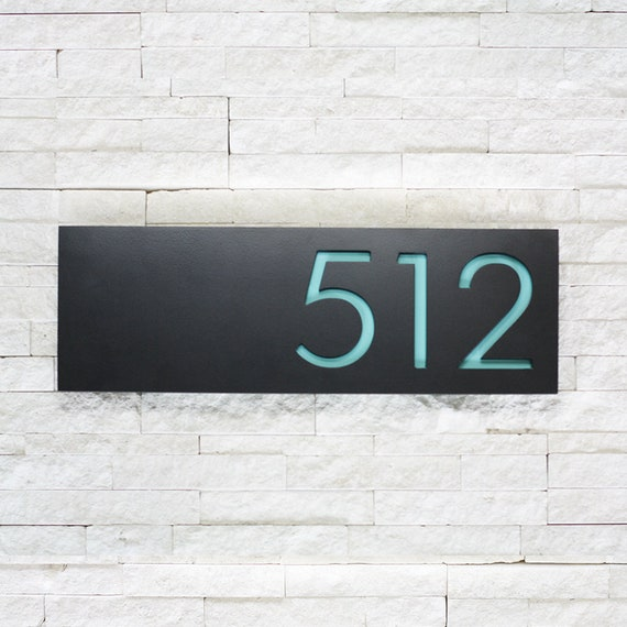 The Monroe House Numbers Steel Modern Metal Address Plaque