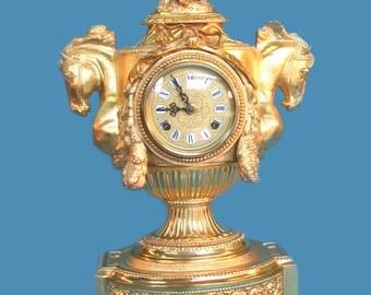 Piero Bahl-gilt bronze horse head Clock