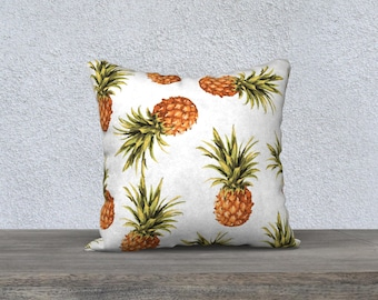 Pineapple Pillow  - Pineapple Cushion  - Pineapple Decor Modern Decor - Tropical Pillow  - 18x18 or 20x14 - Decorative Pillow