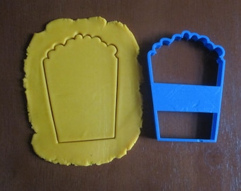 Box of Popcorn Cookie Cutter/Dishwasher Safe