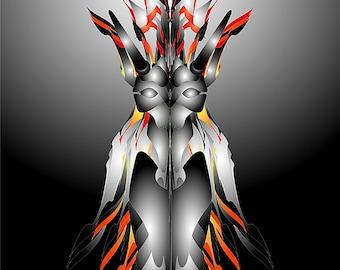 Giclee Print  - [ Yasya ]  Fine Art, Giclee Print, Wall Art, Art print, Poster, wall decor,