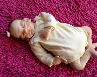 OOAK Polymer Clay Handsculpted Baby Girl Art Doll