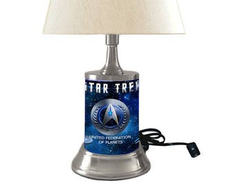 Star Trek Lamp with shade, United Federation of Planets