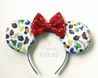 Character Mickey Ears, Disney Inspired  Ears, Multi Character Mickey Ears, Mickey Mouse Ears, Mickey Ears Headband, Disney Inspired Ears